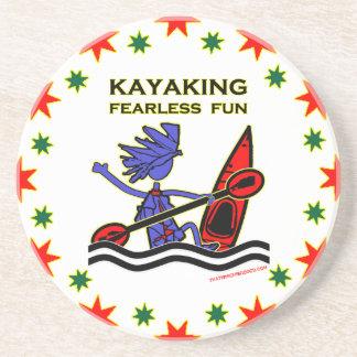Diversión audaz Kayaking Posavaso Para Bebida