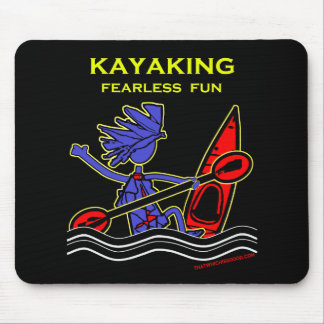 Diversión audaz Kayaking Tapete De Ratón