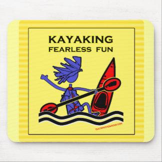 Diversión audaz Kayaking Tapetes De Ratón