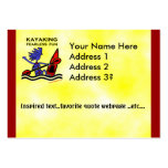 Diversión audaz Kayaking Plantillas De Tarjetas De Visita
