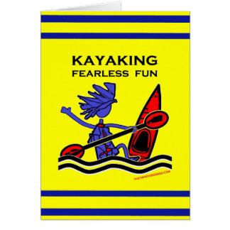 Diversión audaz Kayaking Tarjeta De Felicitación