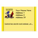Diversión audaz Kayaking Tarjeta De Negocio