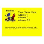 Diversión audaz Kayaking Tarjetas De Visita