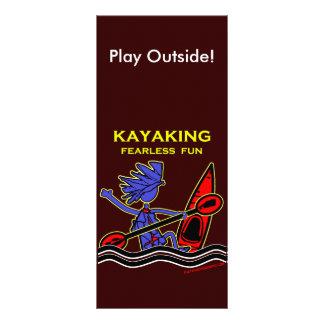 Diversión audaz Kayaking Tarjetas Publicitarias Personalizadas
