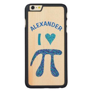 Diversión azul del empollón de la ciencia del funda de arce carved® para iPhone 6 plus