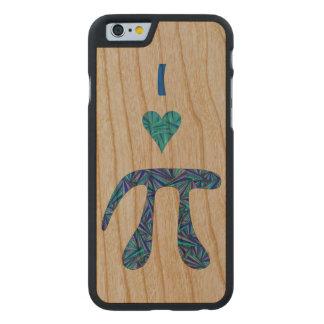 Diversión azul del empollón de la ciencia del funda de iPhone 6 carved® de cerezo