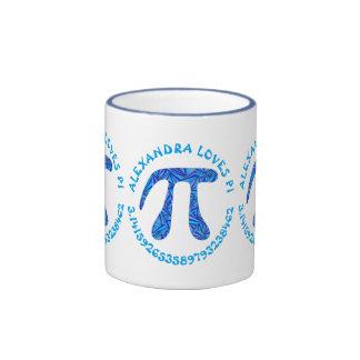 Diversión azul del empollón de la ciencia del tazas de café