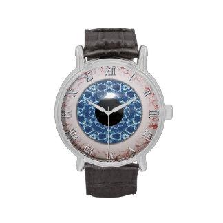 Diversión azul espeluznante de Halloween del globo Reloj