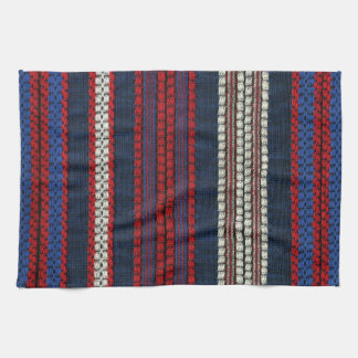 Diversión blanca y azul roja retra del inconformis toallas de cocina