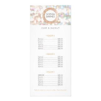 Diversión Bokeh y menú color de rosa 2 de la lista Tarjeta Publicitaria Personalizada