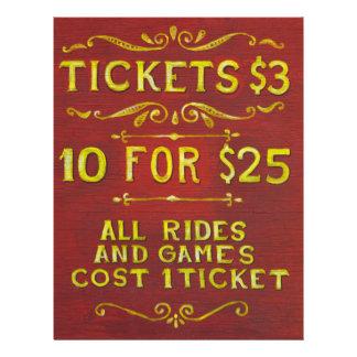 Diversión - boletos 3 dólares flyer personalizado