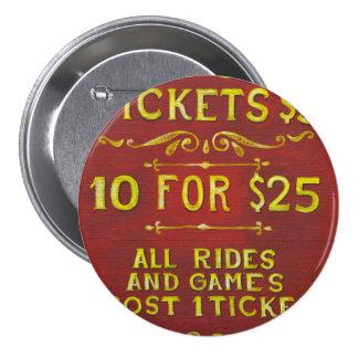 Diversión - boletos 3 dólares pins
