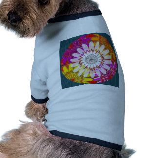 DIVERSIÓN brillante BLANCA de la mandala de la Camiseta Con Mangas Para Perro