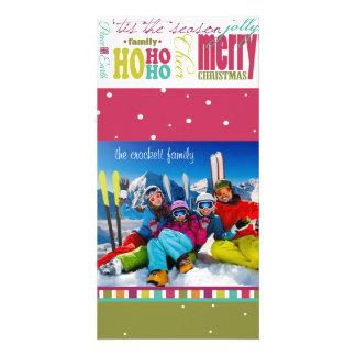 Diversión brillante, tarjeta adaptable de la foto  tarjeta fotográfica personalizada