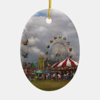 Diversión - circo que viaja adorno de navidad