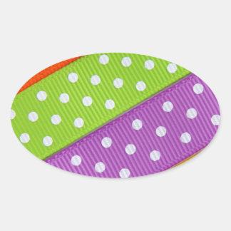 Diversión colorida de la cinta pegatina ovalada