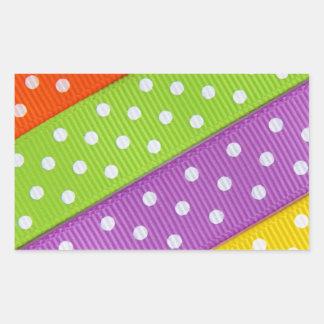 Diversión colorida de la cinta pegatina rectangular