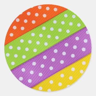 Diversión colorida de la cinta pegatina redonda
