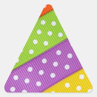 Diversión colorida de la cinta pegatina triangular