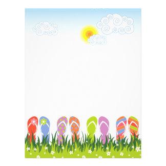 Diversión colorida de los flips-flopes del verano folleto 21,6 x 28 cm
