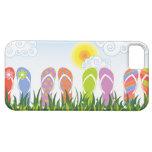 Diversión colorida de los flips-flopes del verano  iPhone 5 Case-Mate cárcasas
