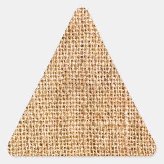 Diversión con arpillera pegatina triangular