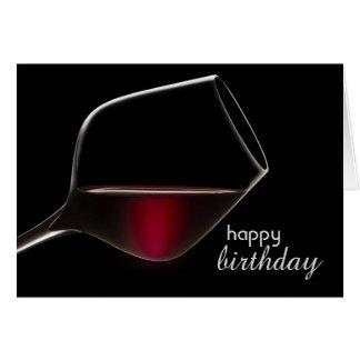 Diversión con la tarjeta de cumpleaños del vino
