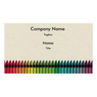 Diversión con la tarjeta de visita del color