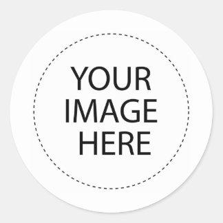 Diversión con los retratos etiqueta redonda