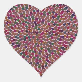 Diversión creada artista elegante de la textura pegatina de corazón