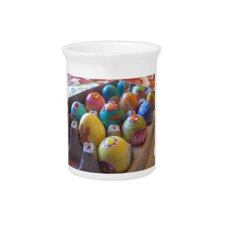 Diversión de adornamiento pasada de moda colorida jarrones