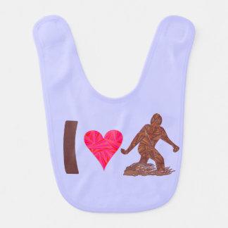 Diversión de Bigfoot del corazón de Bigfoot Baberos Para Bebé