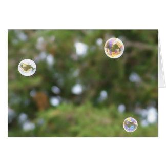 Diversión de Bubblin Tarjeta Pequeña