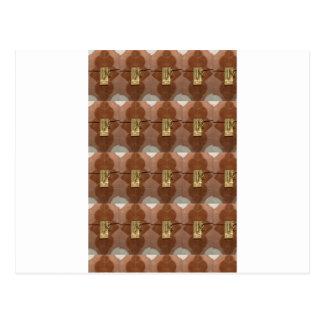 Diversión de cobre amarillo de la moda DIY del Postales