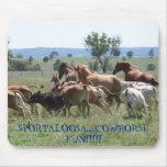 Diversión de Cowhorse Tapete De Ratones