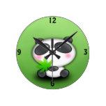 Diversión de Cub de la panda Reloj