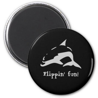 ¡Diversión de Flippin! Imán Redondo 5 Cm