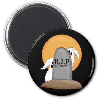 Diversión de Halloween de los fantasmas de R.I.P Imán Redondo 5 Cm