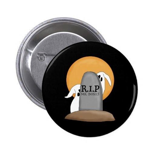 Diversión de Halloween de los fantasmas de R.I.P Pin Redondo 5 Cm