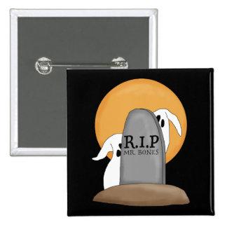 Diversión de Halloween de los fantasmas de R I P Pins