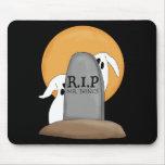 Diversión de Halloween de los fantasmas de R.I.P Tapete De Ratones