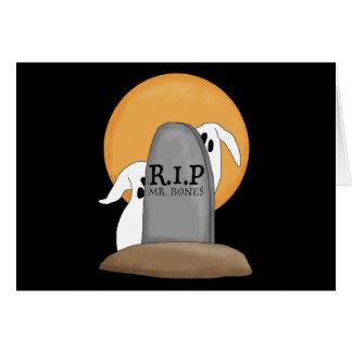 Diversión de Halloween de los fantasmas de R.I.P Tarjetas