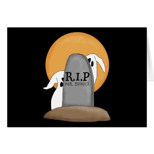 Diversión de Halloween de los fantasmas de R.I.P Tarjeta De Felicitación