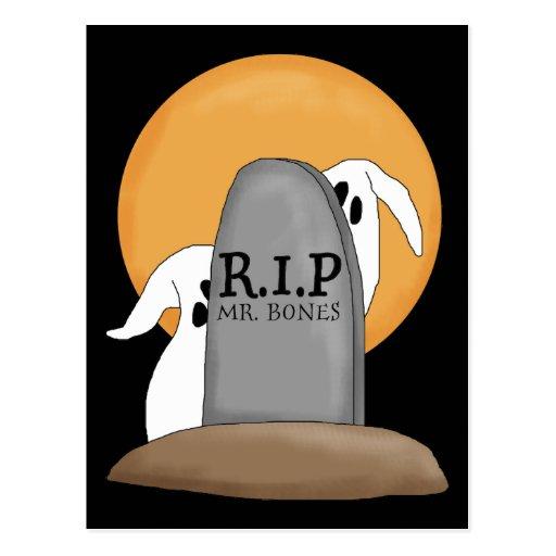 Diversión de Halloween de los fantasmas de R.I.P Postales