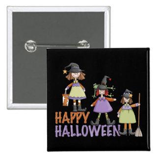 Diversión de Halloween de tres pequeña brujas Pins