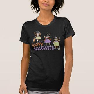 Diversión de Halloween de tres pequeña brujas Playera