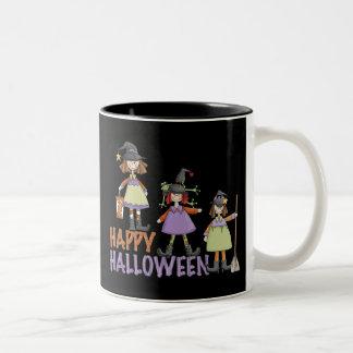 Diversión de Halloween de tres pequeña brujas Taza De Café