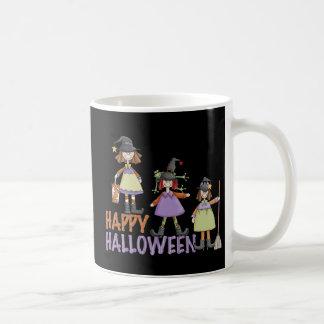 Diversión de Halloween de tres pequeña brujas Tazas De Café