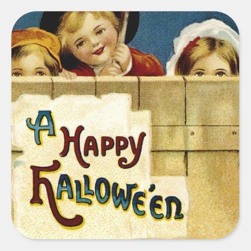 Diversión de Halloween Pegatina Cuadrada