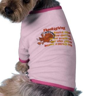 Diversión de la acción de gracias camisetas mascota